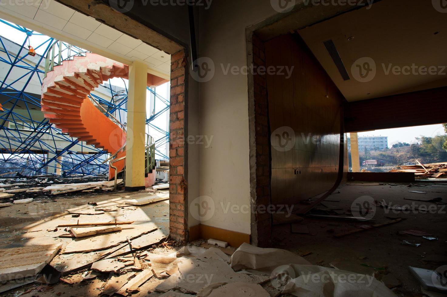 det förstörda huset foto