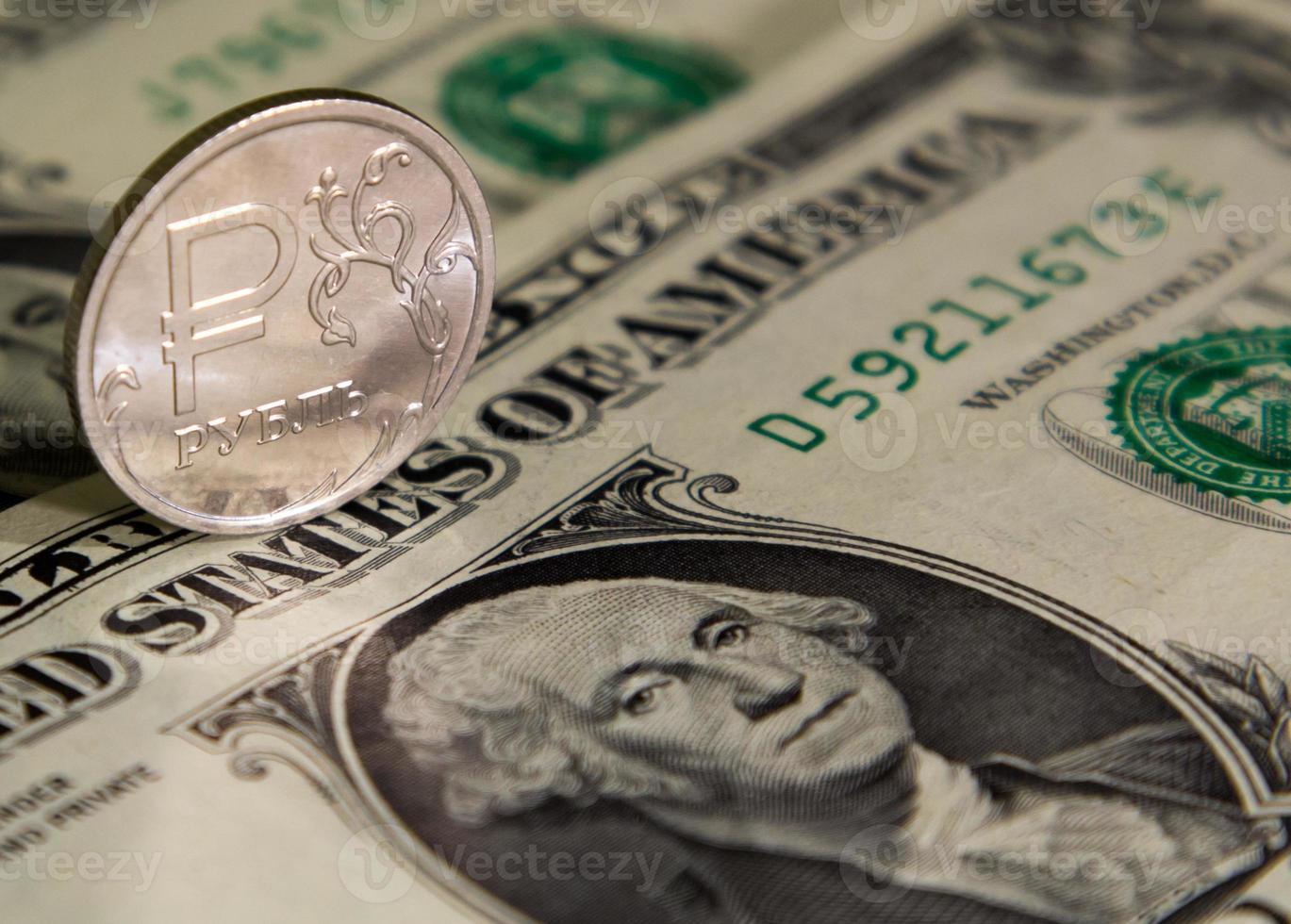 rubel och dollar foto