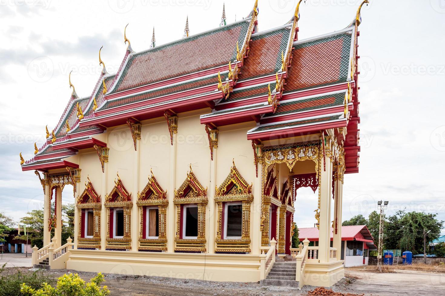 nytt tempel i Thailand foto
