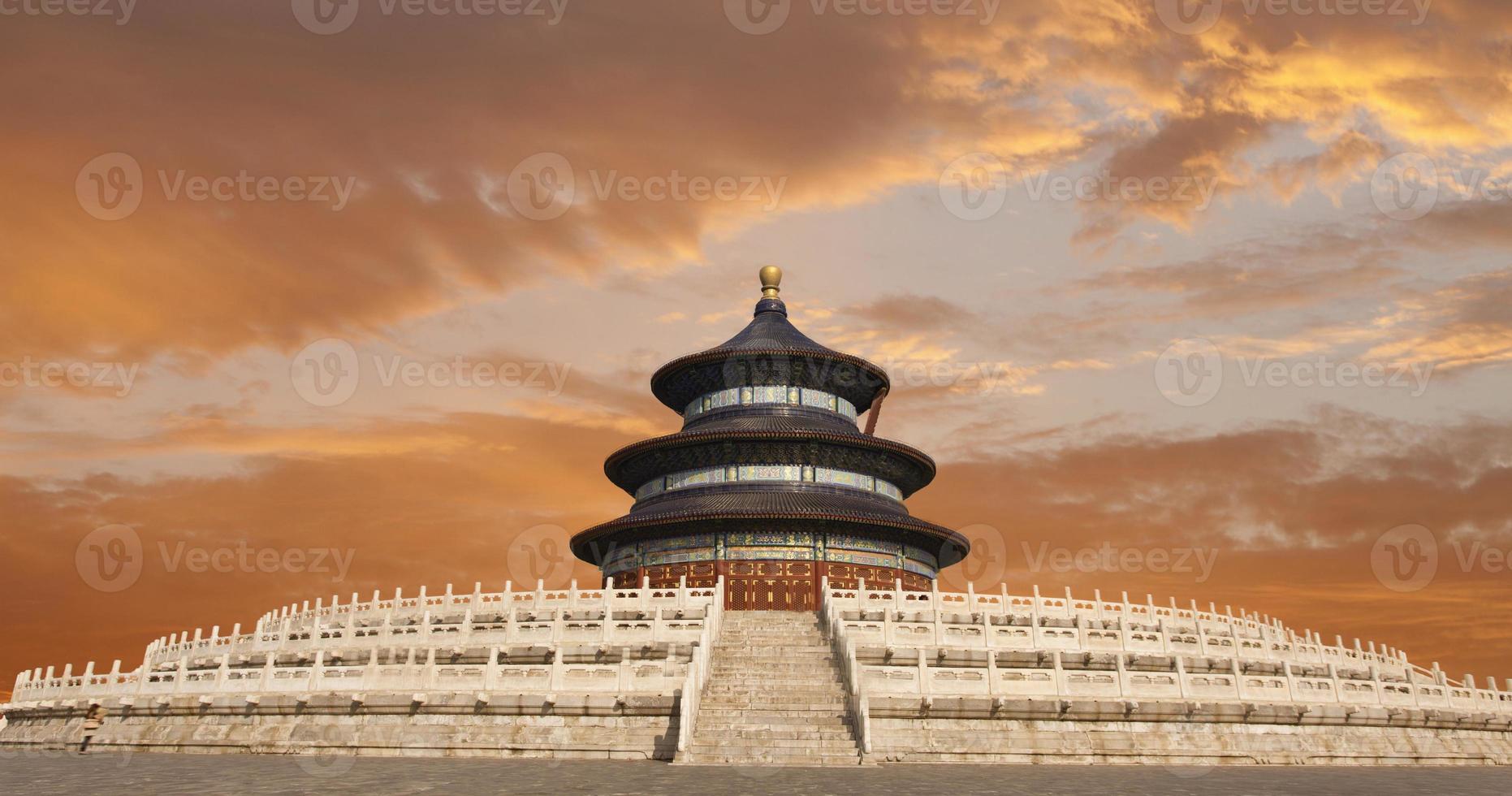 beijing himmel tempel i susnet foto
