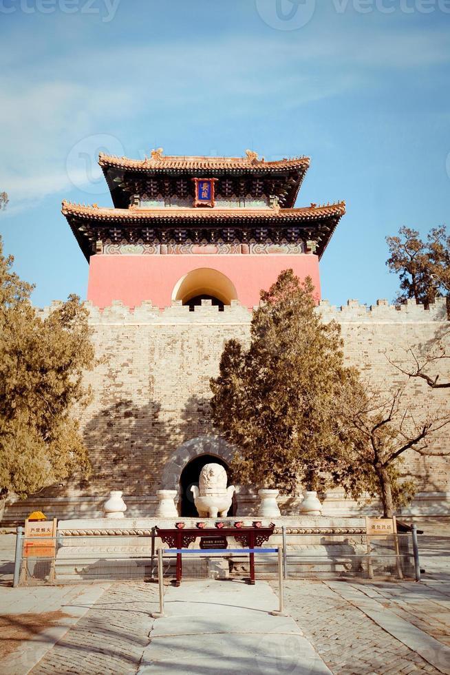 mingdynastins gravvalv i Peking, Kina foto
