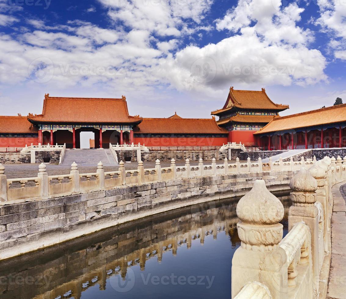 Kina förbjudet stadskanalstaket foto