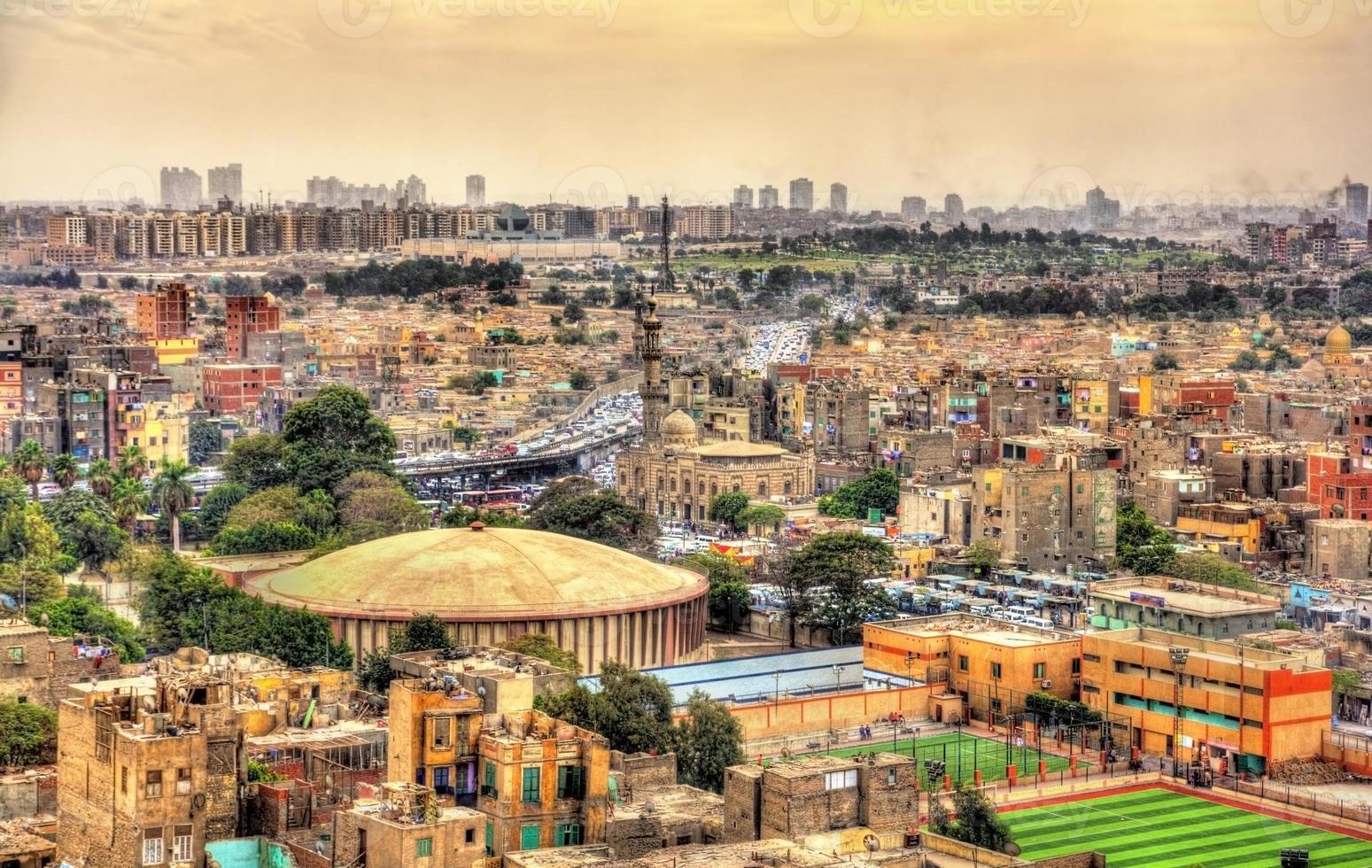utsikt över kairo från citadellet - Egypten foto