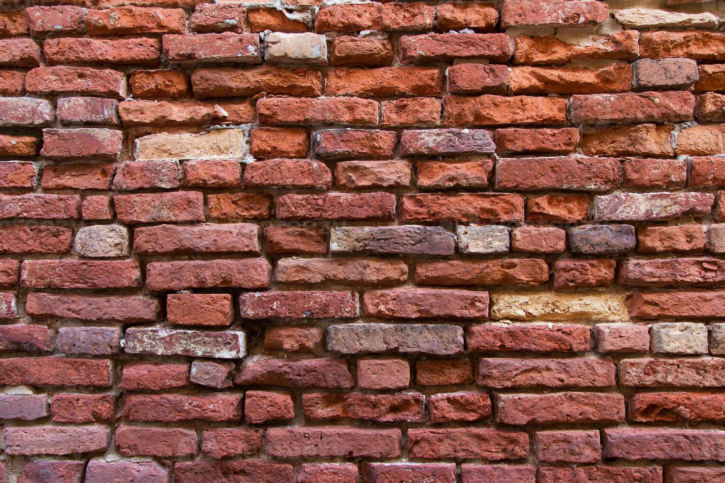 brik väggstruktur med djup foto