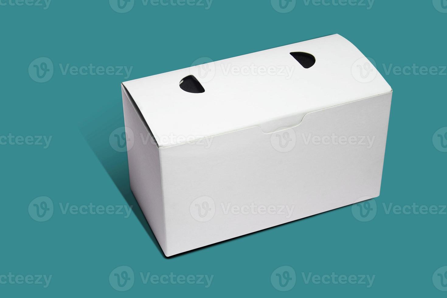 vit låda förpackning foto