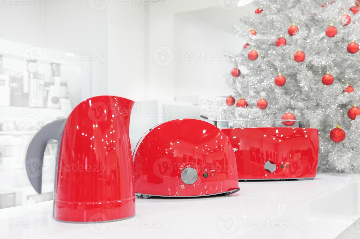 hushållsapparater butik vid jul foto