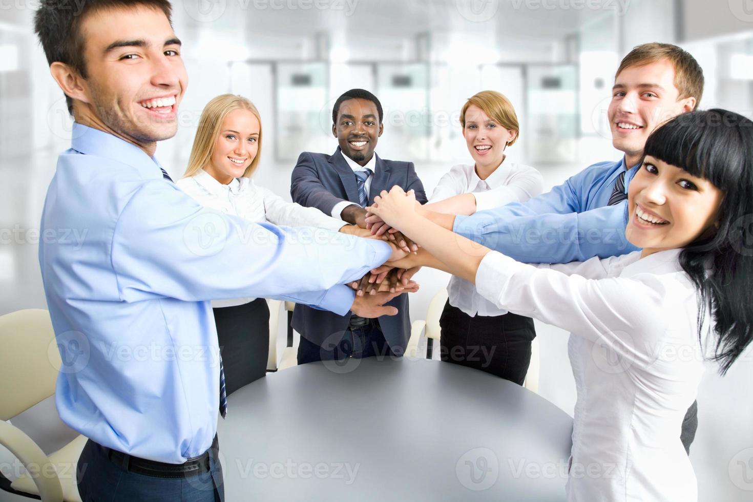 internationellt företagsteam foto