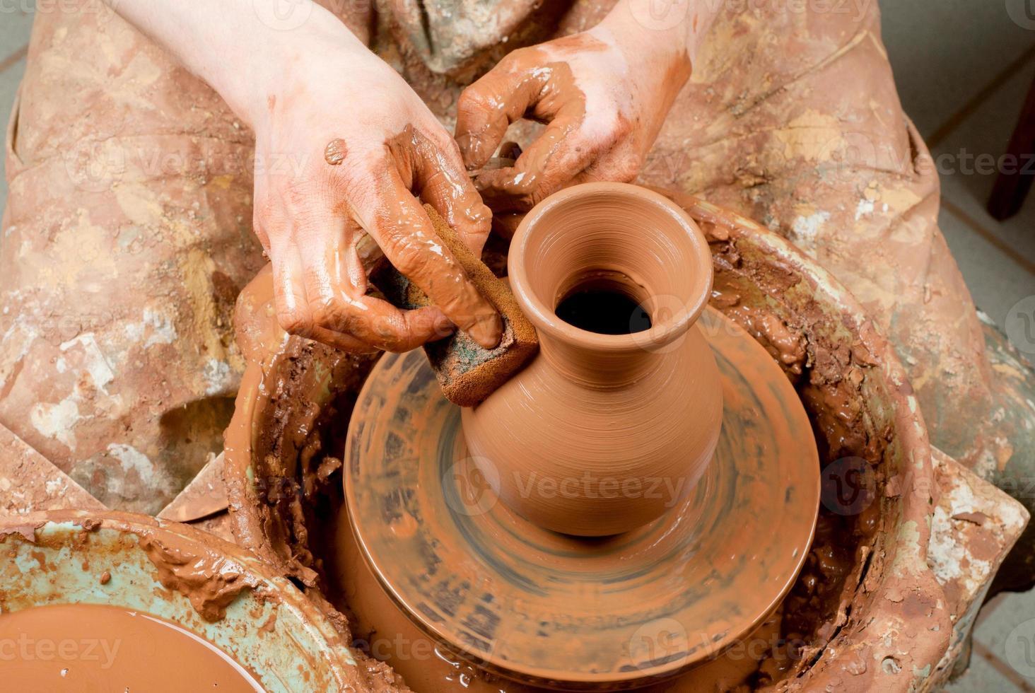 keramiker på jobbet foto