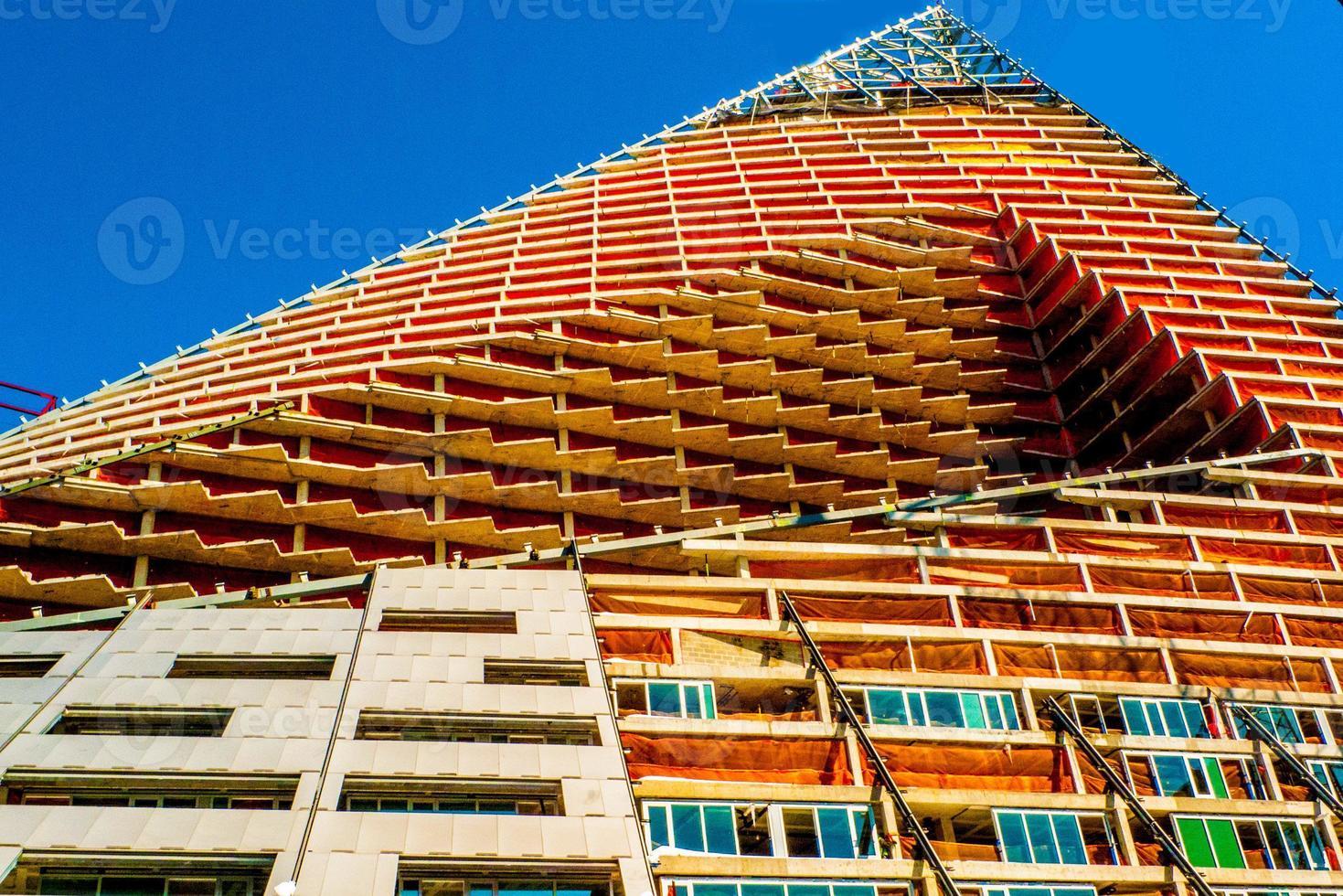 konstruktion av höghus, nyc, kranar foto