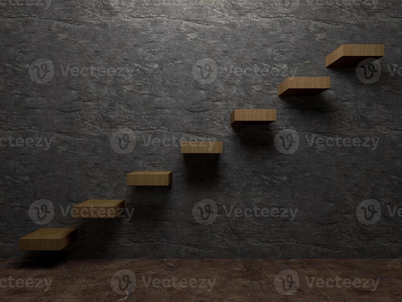 trappuppgång till framgång interiör perspektiv foto