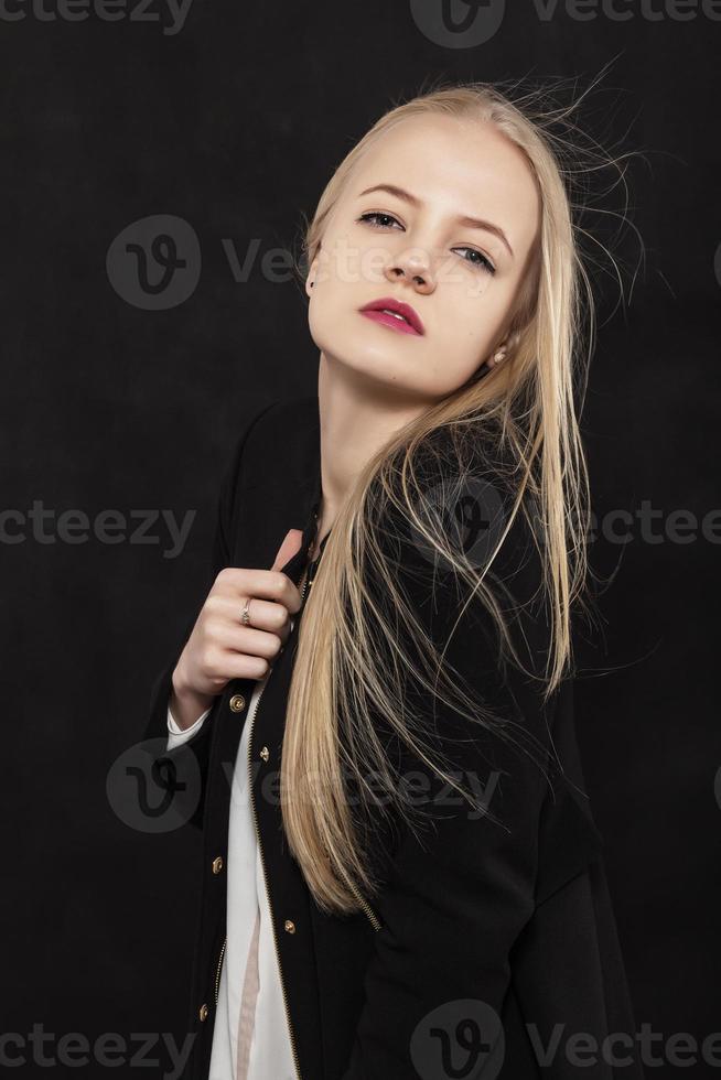 lyxig blond tjej foto