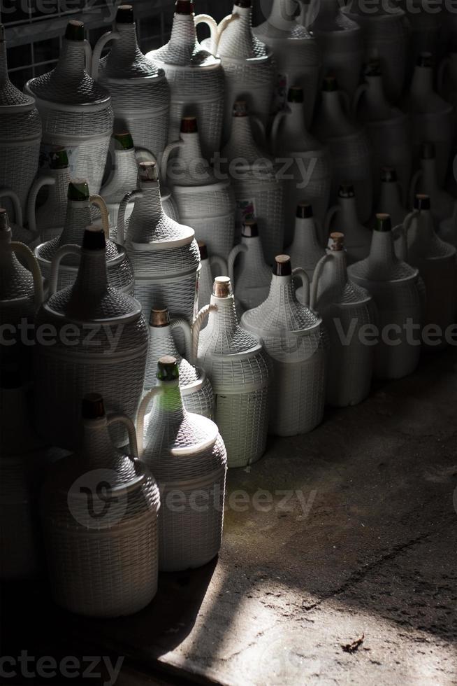 vinflaskor foto