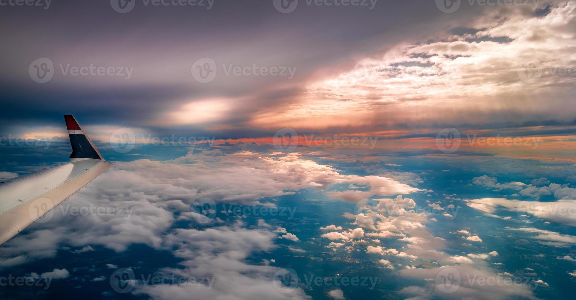 himmelsk vinge utsikt foto