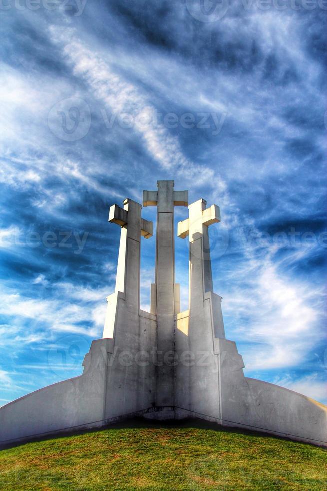tre kors, Vilnius, Litauen foto