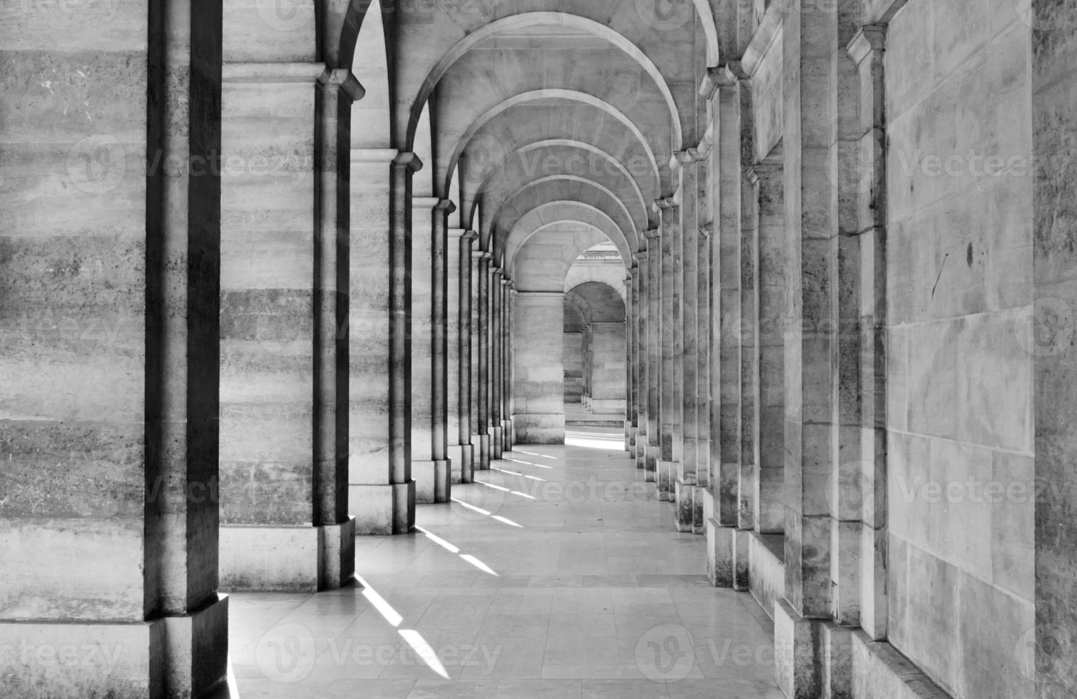 utsikt över kolonnaden foto