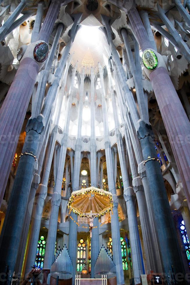 sagrada famiglia, barcelona i Spanien foto