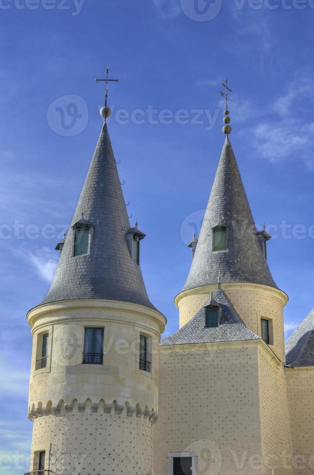 segovia alcazar slott. forntida kungliga palatset i Spanien. foto