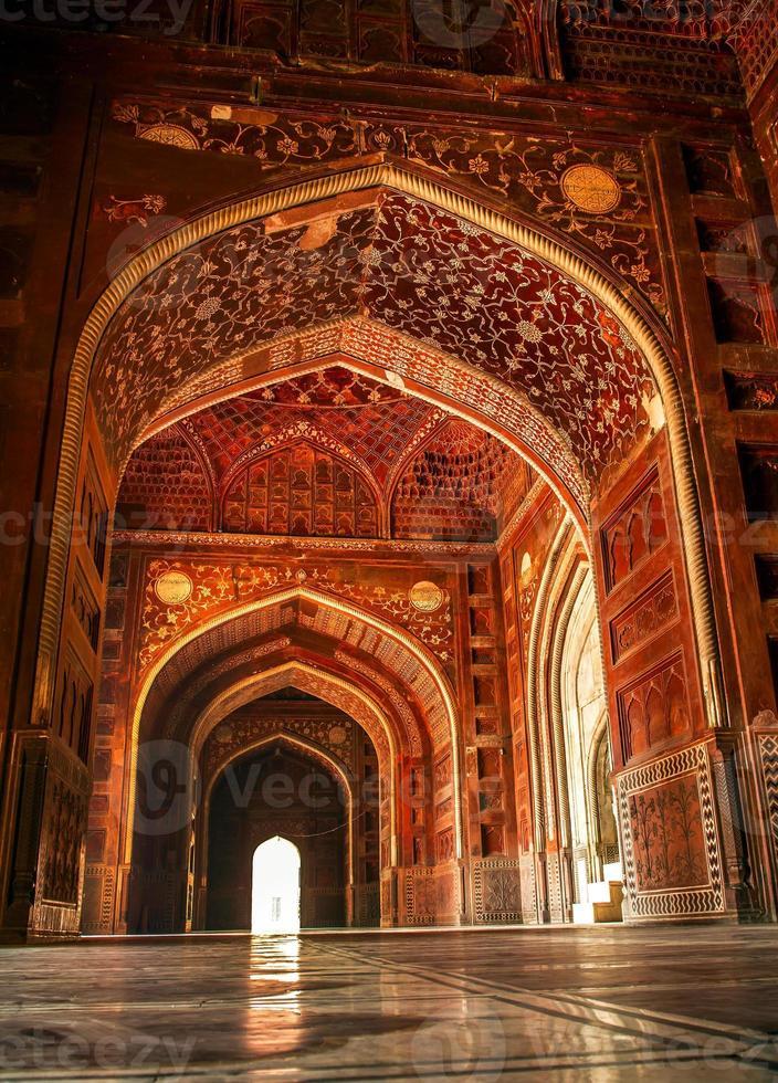 moskén vid taj mahal. agra, uttar pradesh, Indien foto
