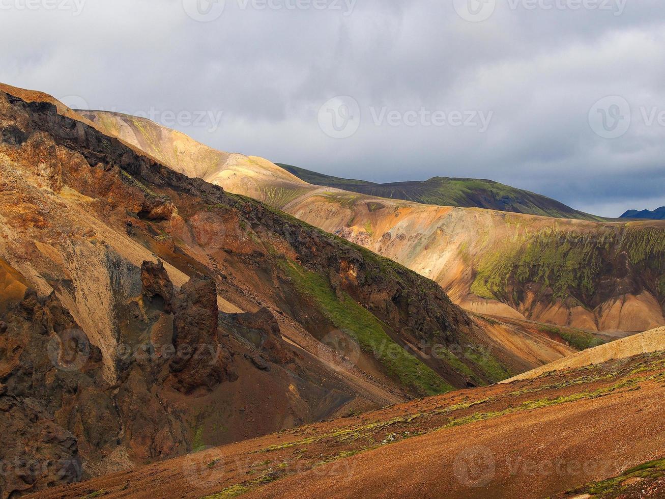 landmannalaugar mountainbak naturreservat centrala Island foto