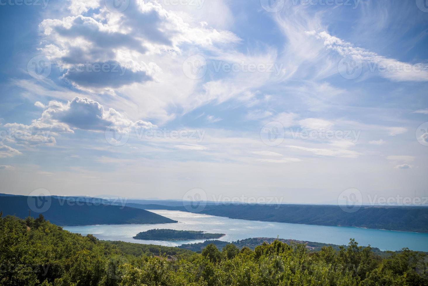 verdon klyfta och St. croix lake, provence foto