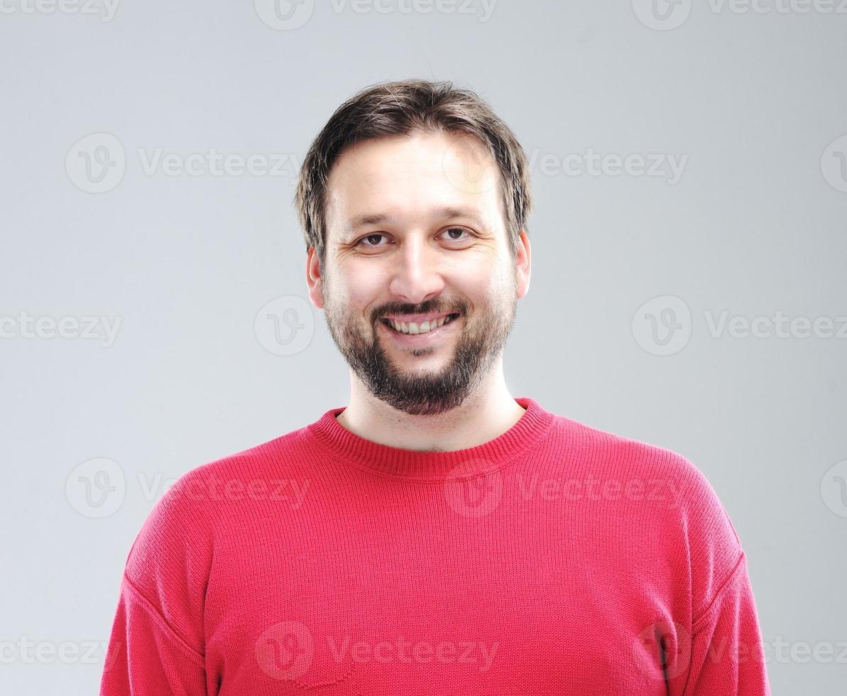 porträtt av ung man foto