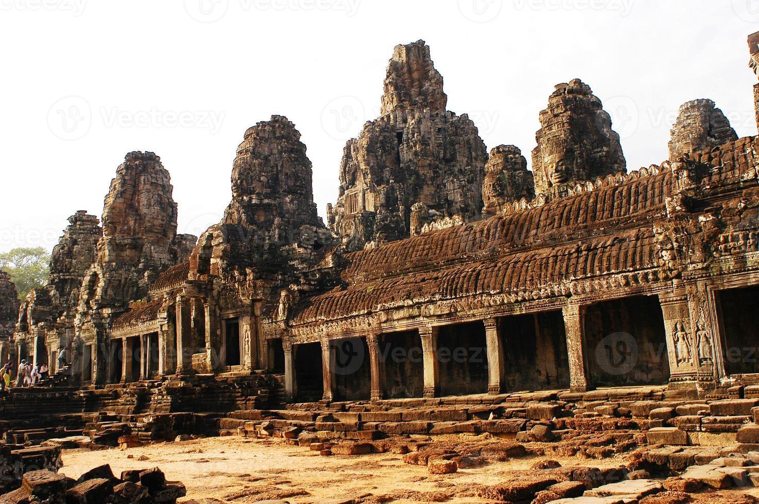 bayon templet vid Angkor Thom foto