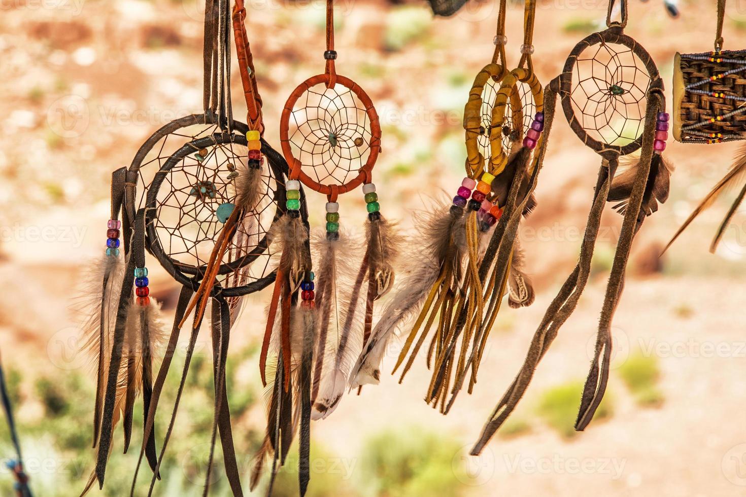 navajo indiska amuletter foto