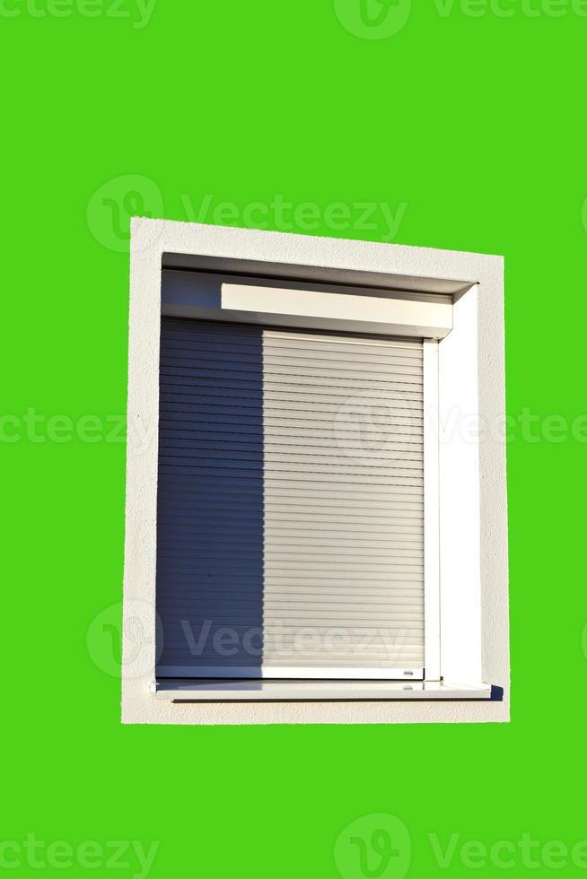 detalj av husfasad med fönster foto