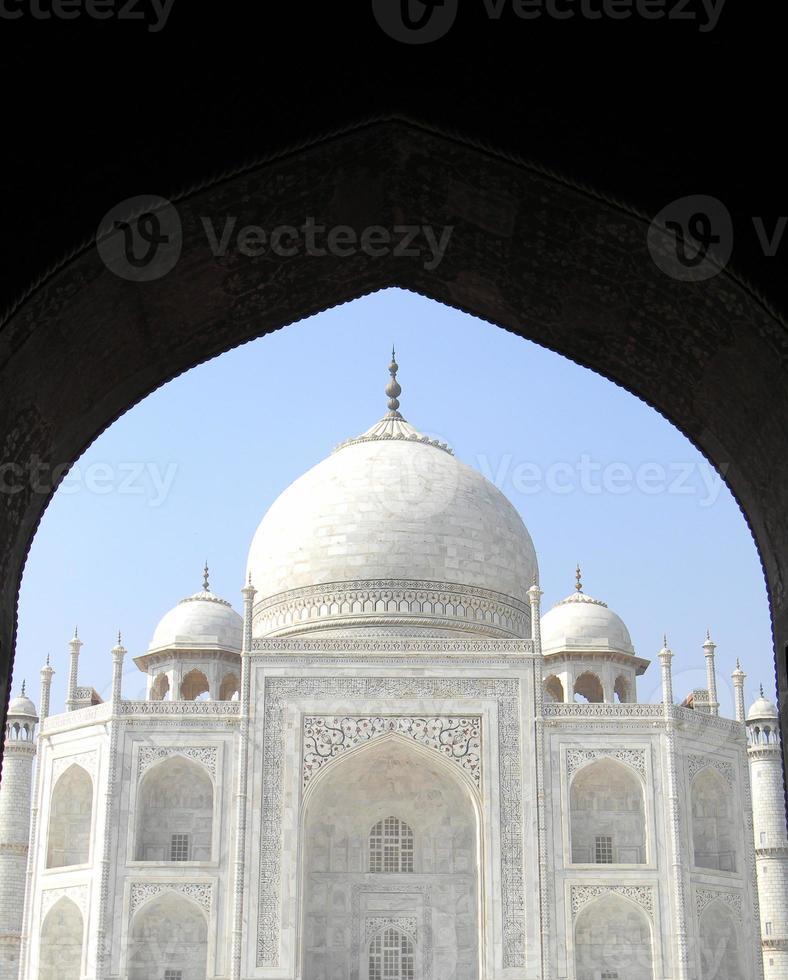 ikonisk Taj Mahal-vy foto