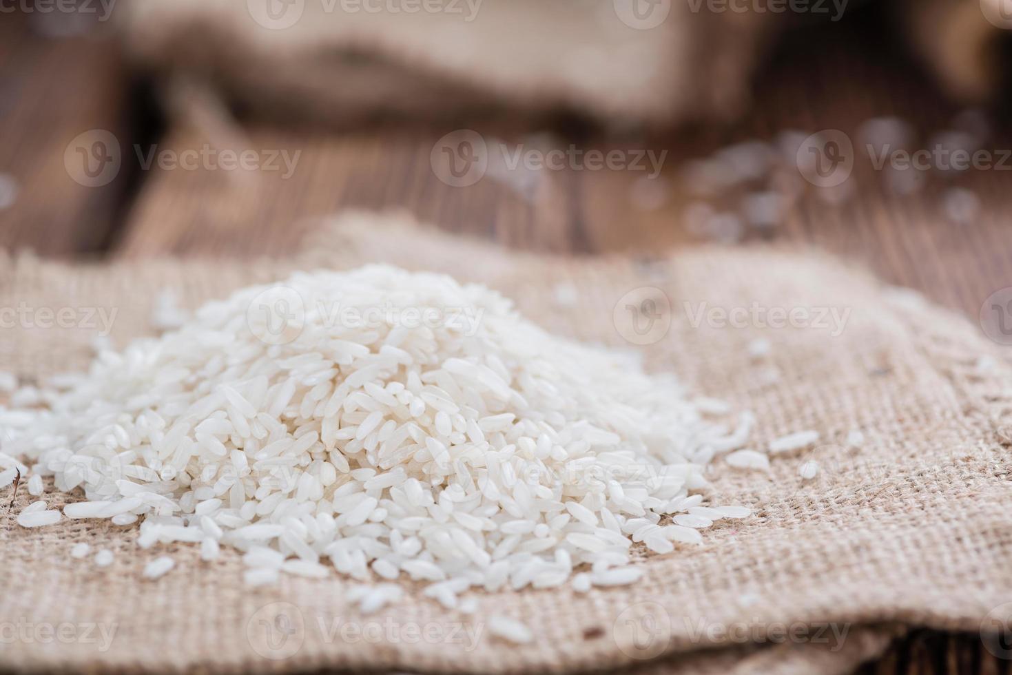 hög med ris foto