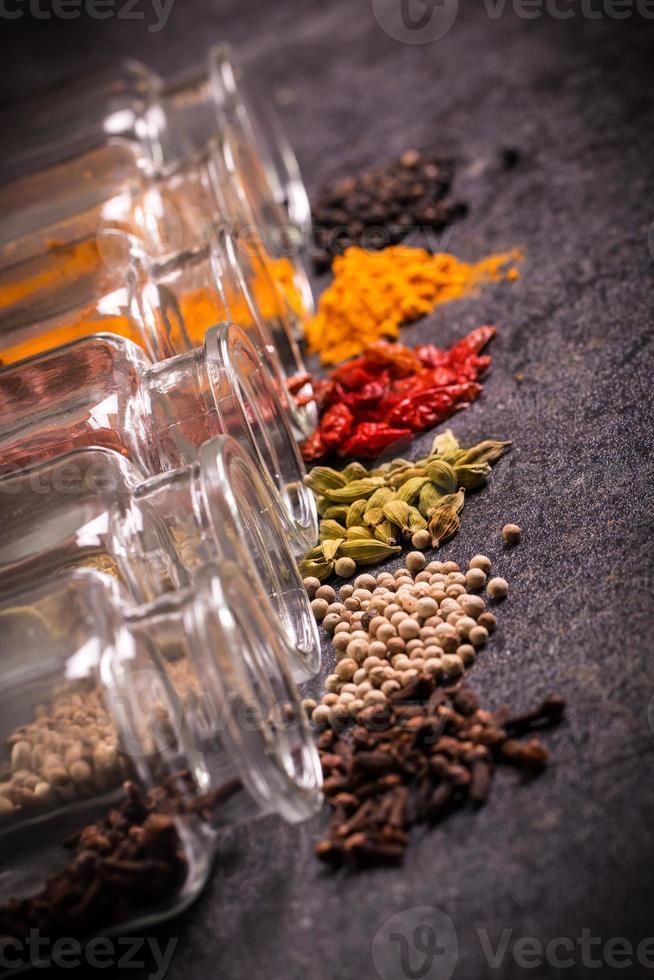 kryddor, ingredienser foto