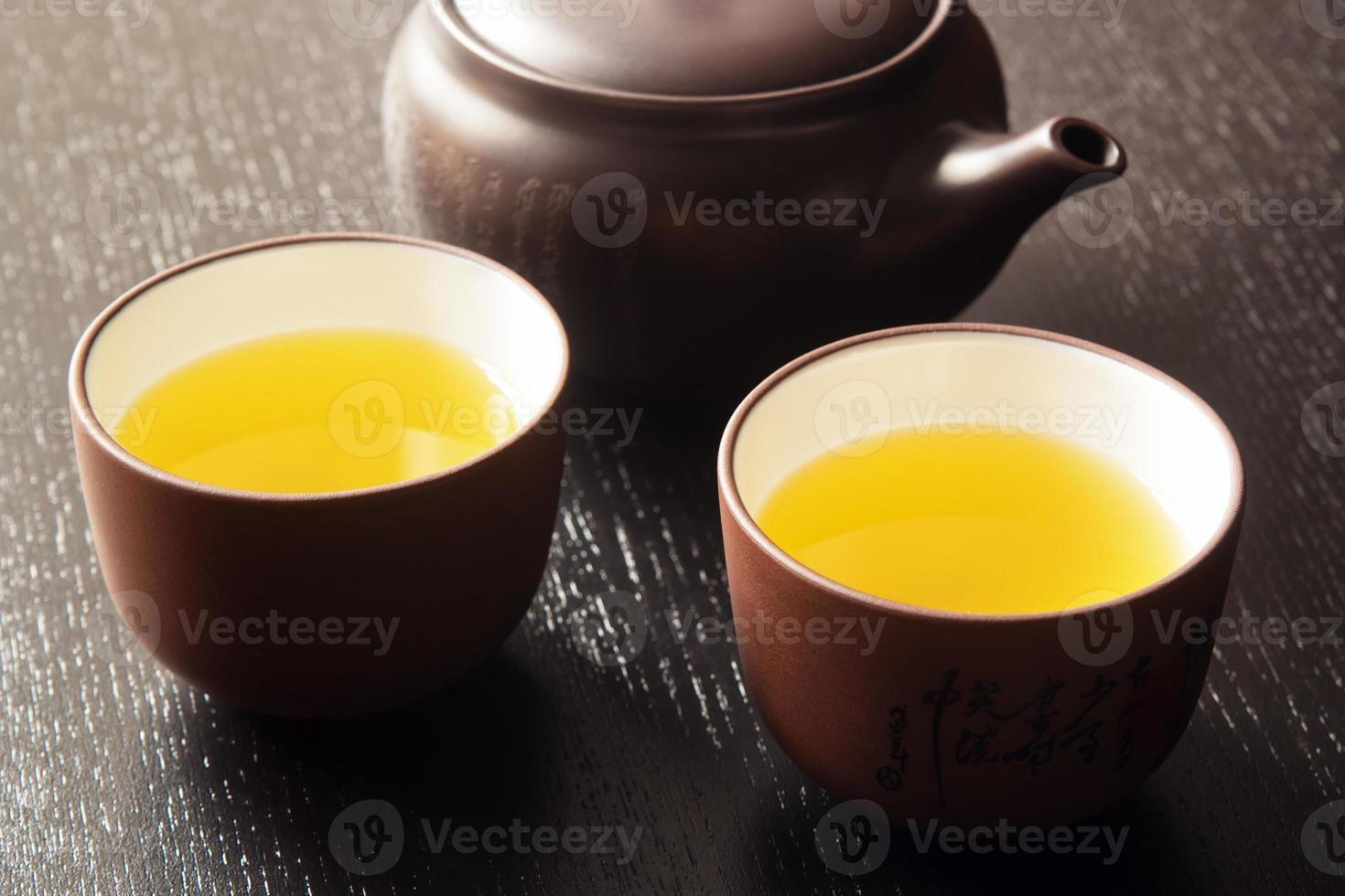 japanskt grönt te foto