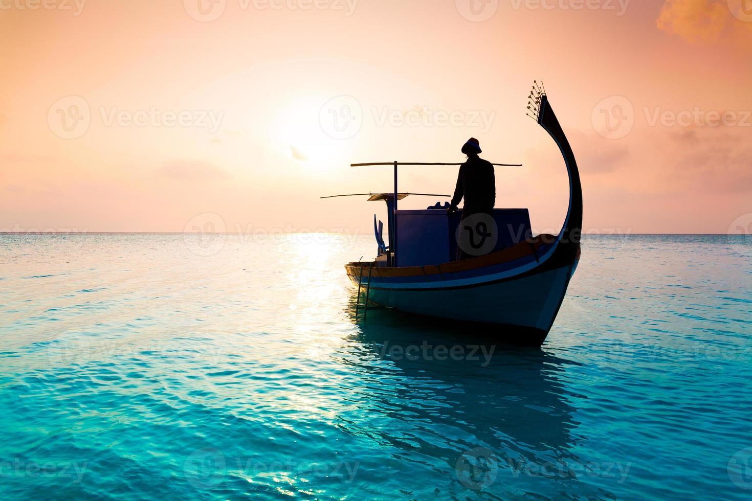 maldiverna, båt foto