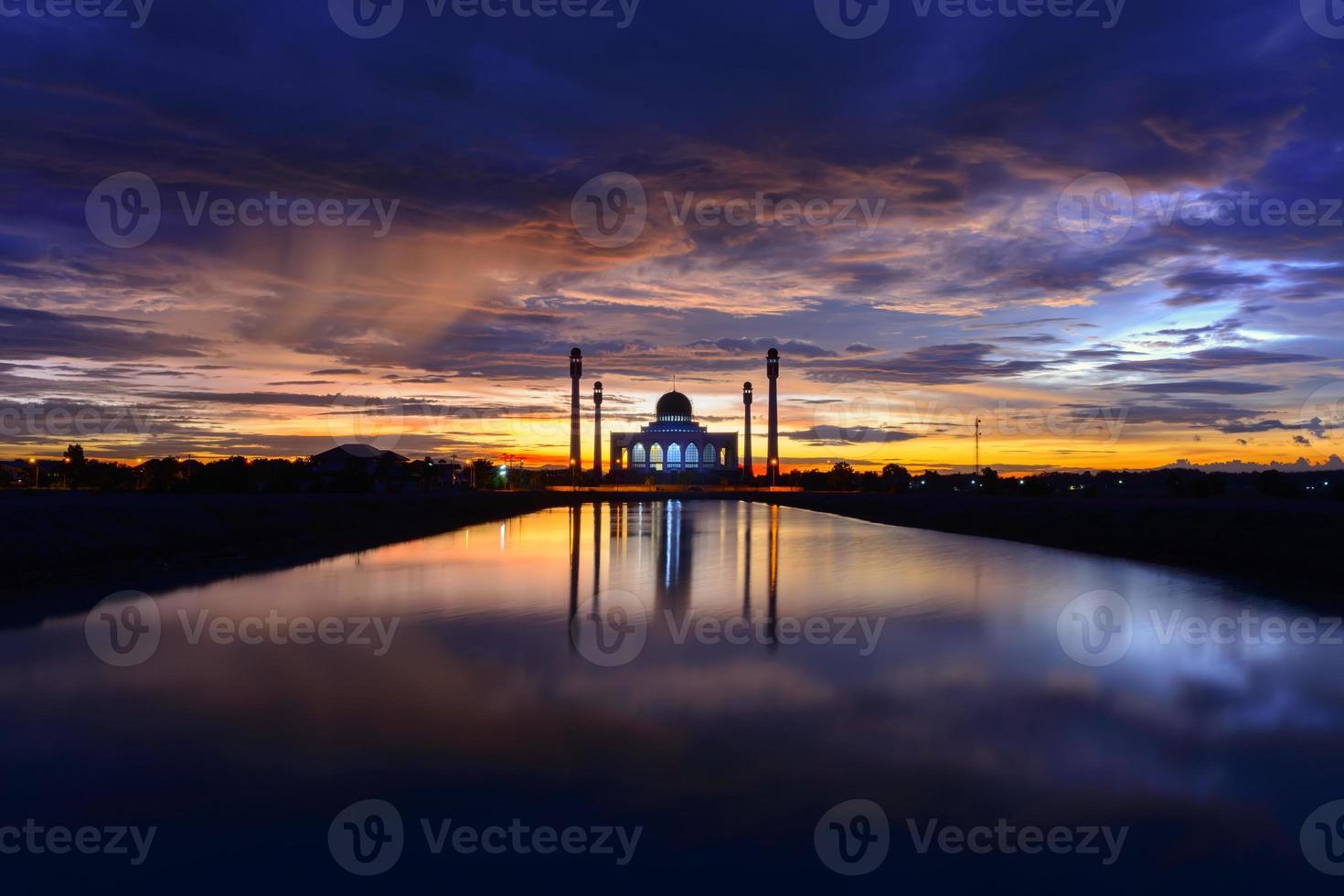centrala moskén Songkhla, Thailand foto