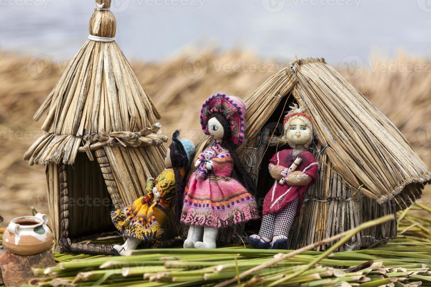 leksaker sett på flytande öar foto