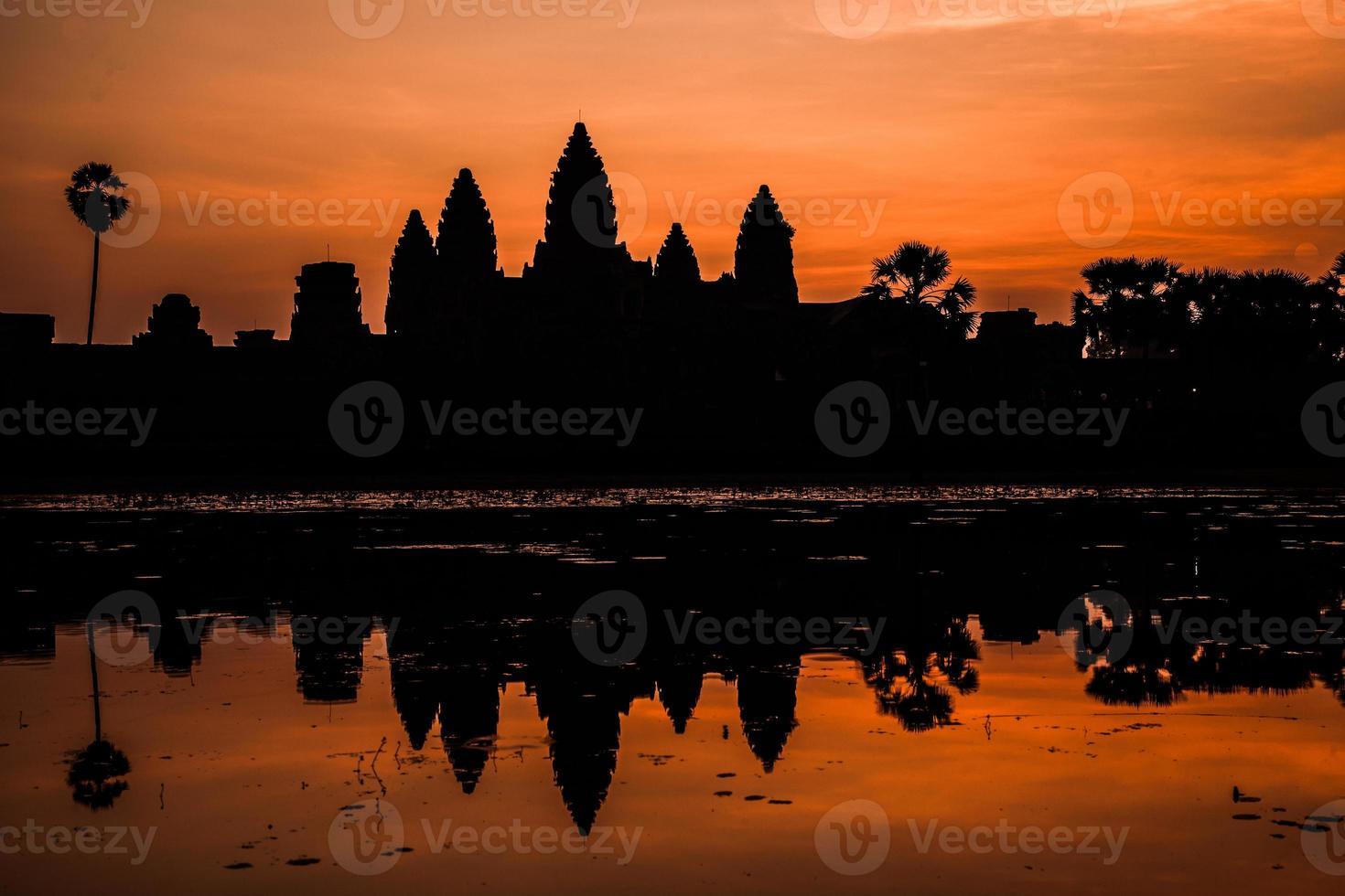 Angkor wat slott. foto