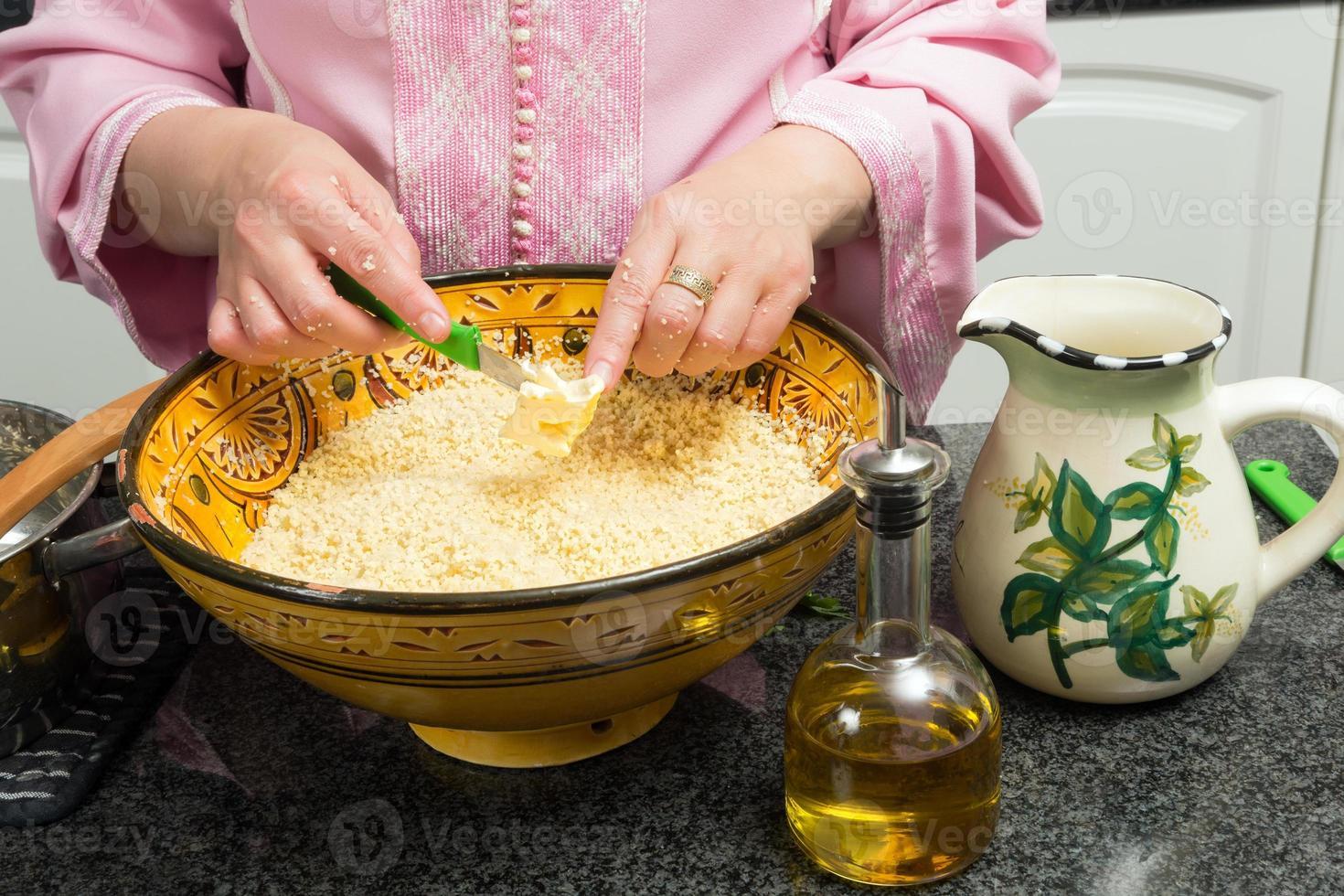 välsmakande marockanska couscous foto