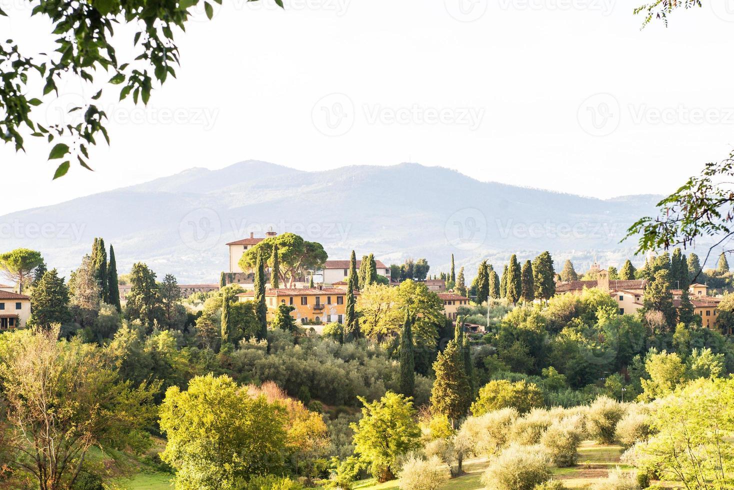 landskap i Florens stad foto