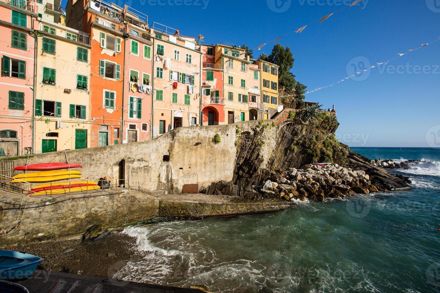 riomaggiore italy (världsarv för cinque terre-unesco) foto