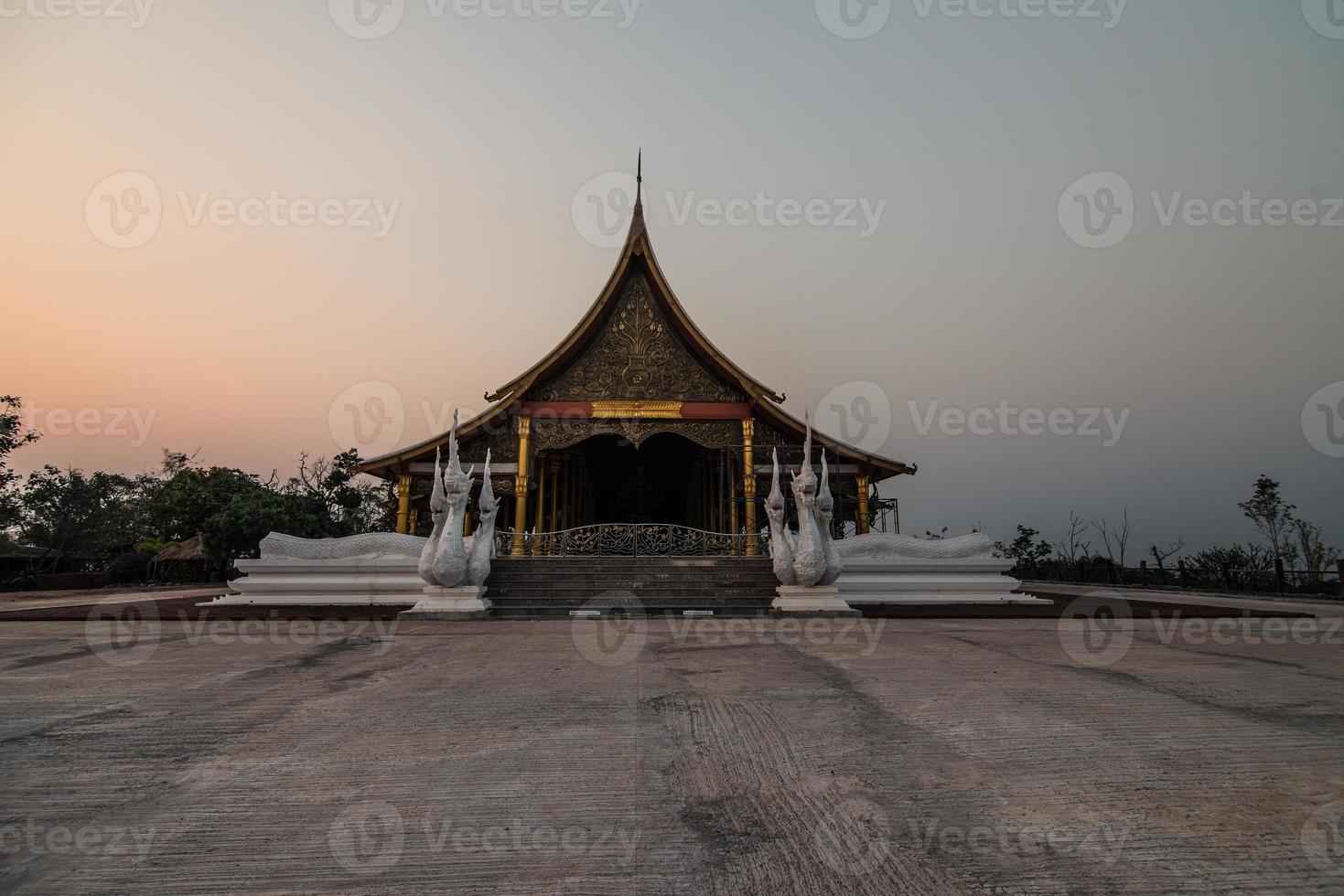 vackert tempel, Thailand foto