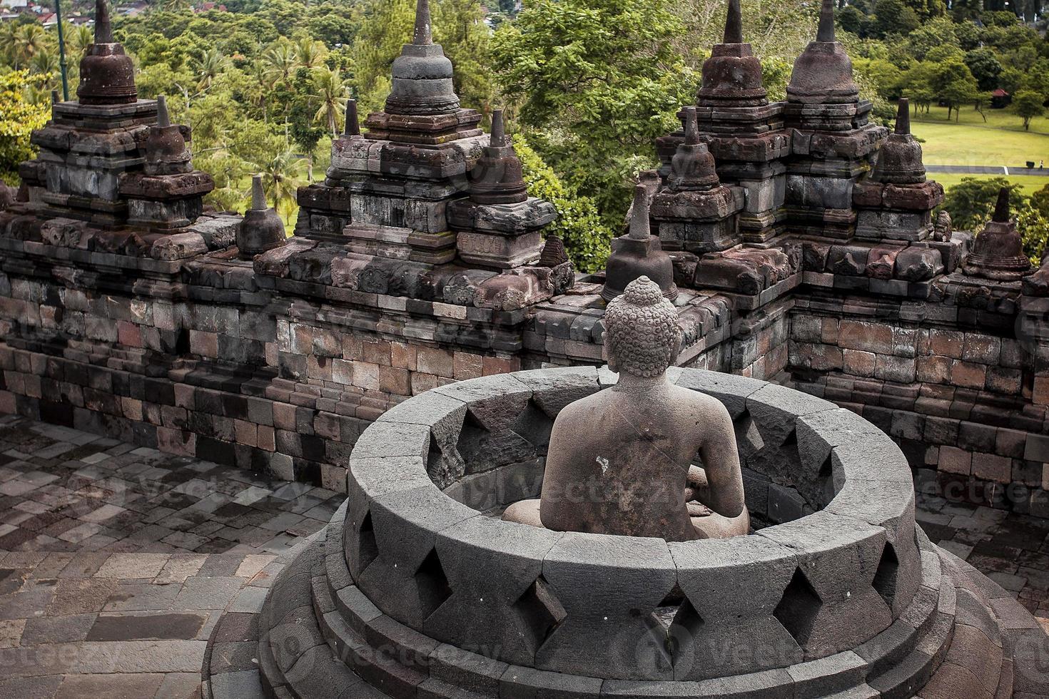 borobudur tempel, java, indonesia. foto