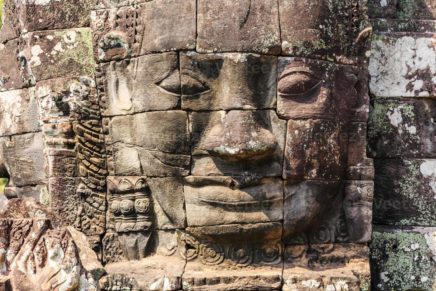 bayon tempel. siem skördar, Kambodja foto