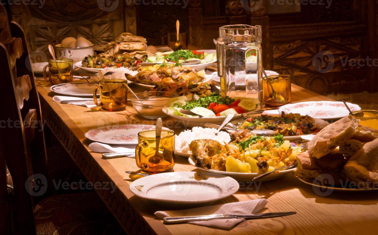 traditionell georgisk mat foto