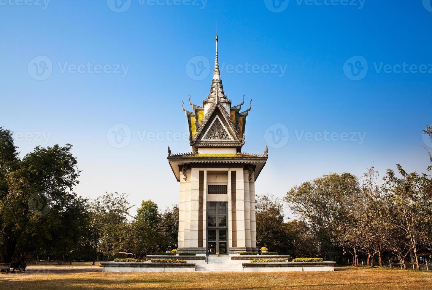 dödsfältet, choeung ek, phnom penh, Kambodja. foto
