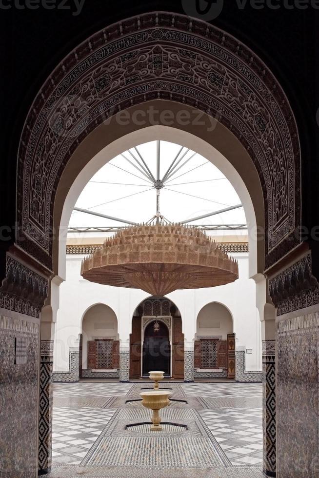 museum i Marrakech, Marocko. foto