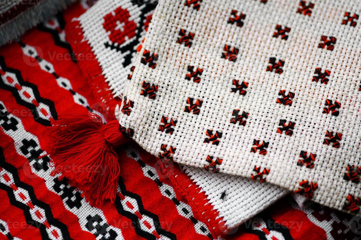rumänska vävt tyg foto