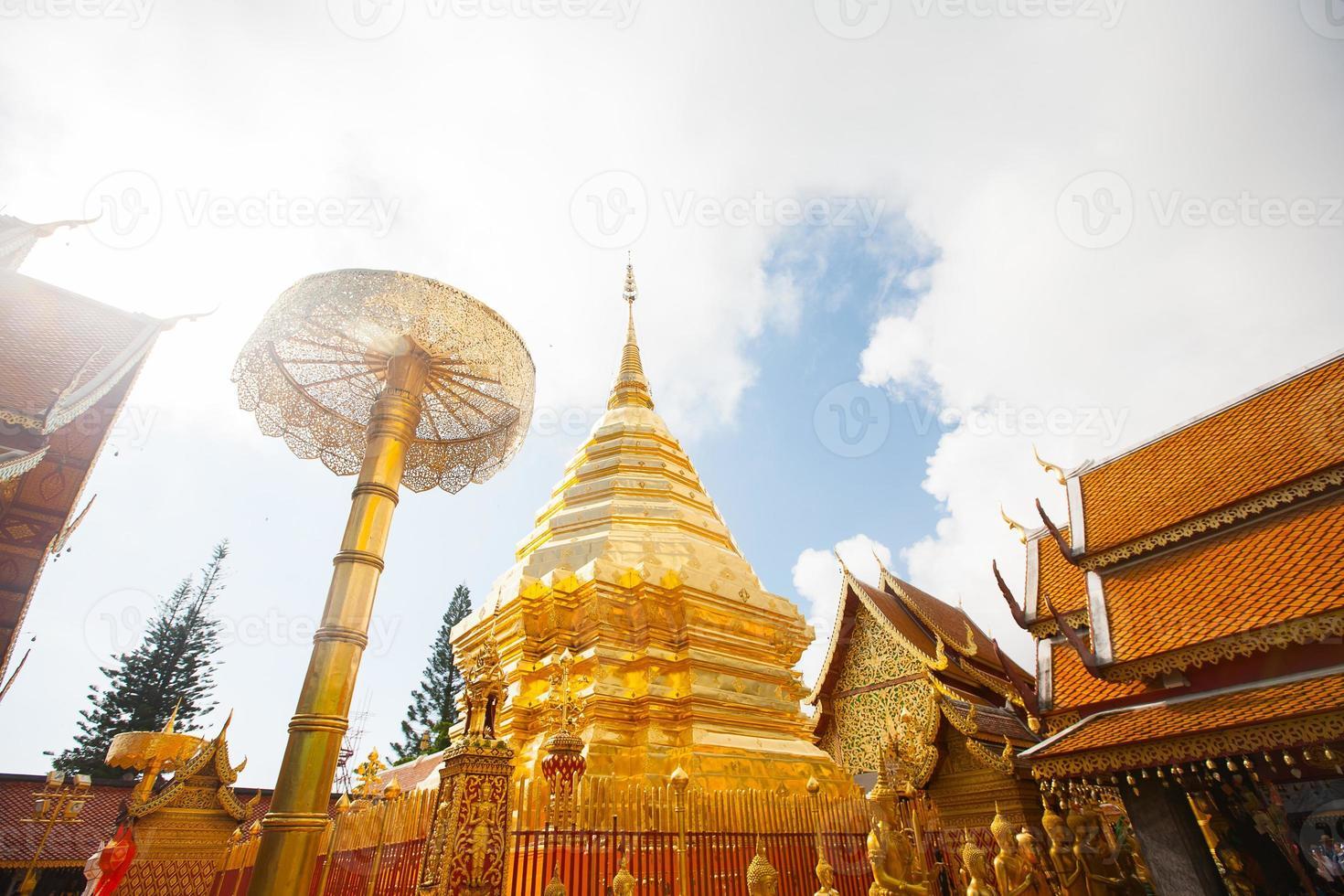 wat phra som doi suthep i Chiang Mai, Thailand foto