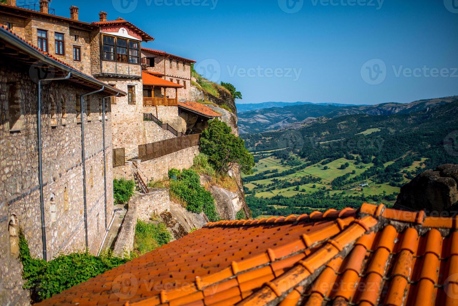 i det heliga klostret i Grekland foto