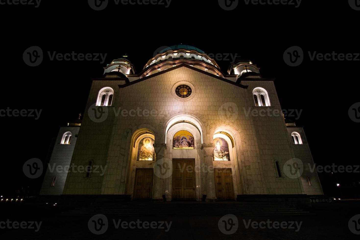 kyrkan av helgonet sava, belgrad, serbien foto