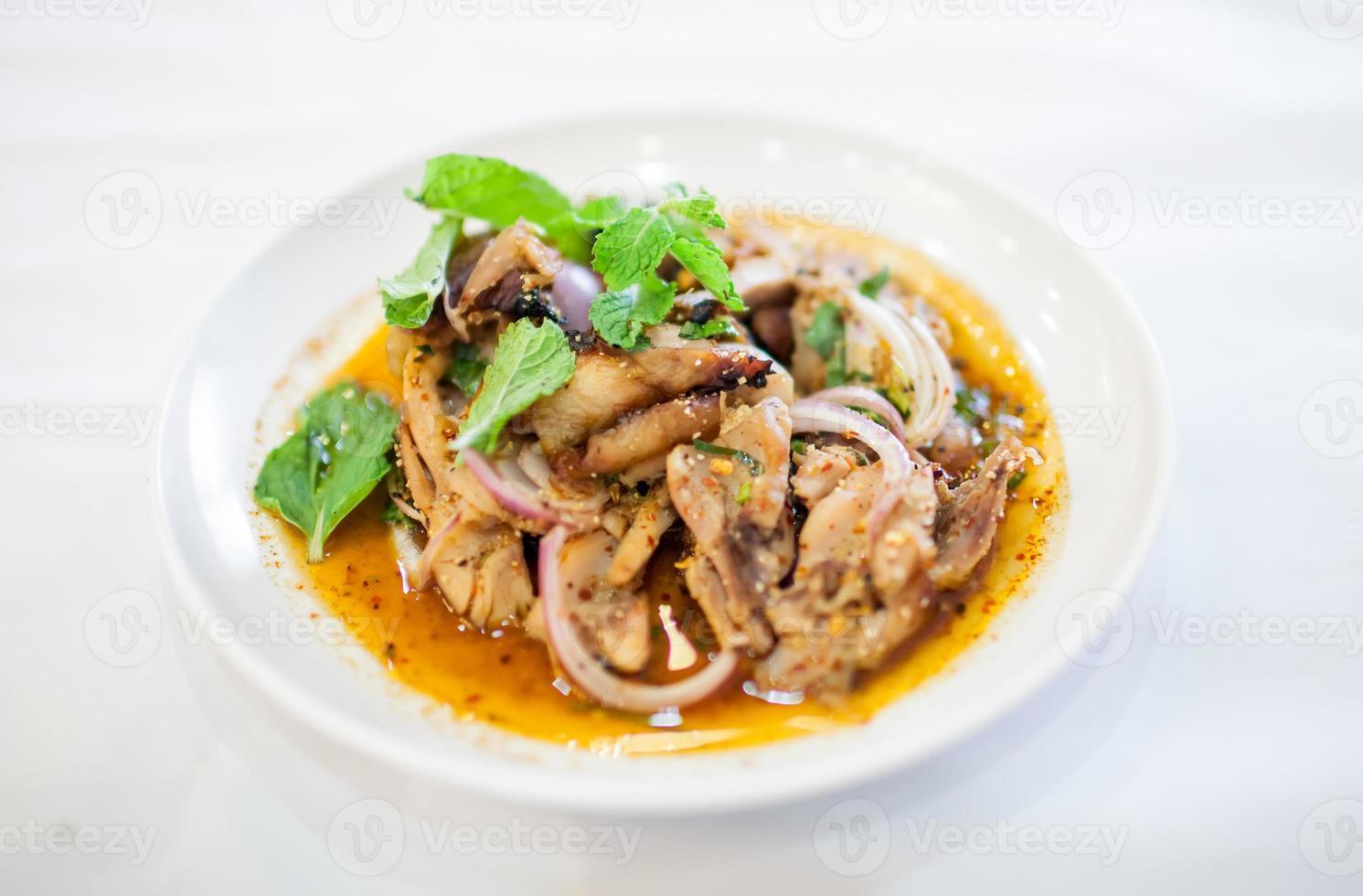 malt kött i thailändsk stil foto